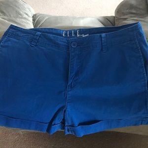 Royal blue Elle Chino shorts. Size 8